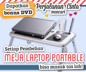 Meja Laptop Murah Portable 2 Cooling Fan