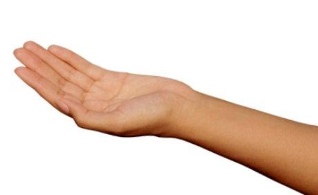 telapak tangan berkeringat
